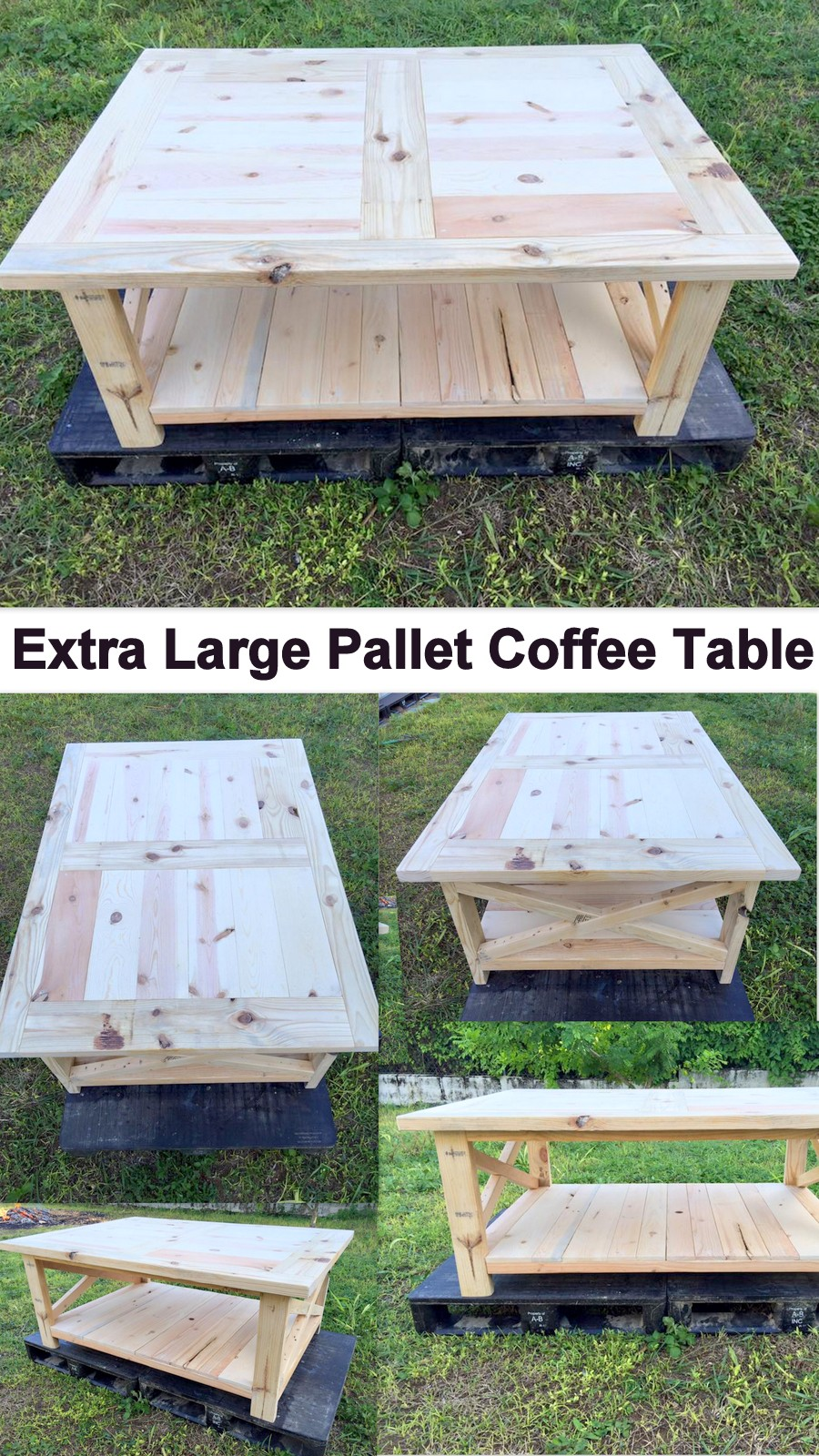 Extra Large Pallet Coffee Table