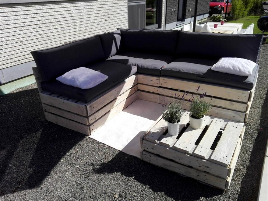 wood pallet outdoor garden furniture pallet ideas. Black Bedroom Furniture Sets. Home Design Ideas