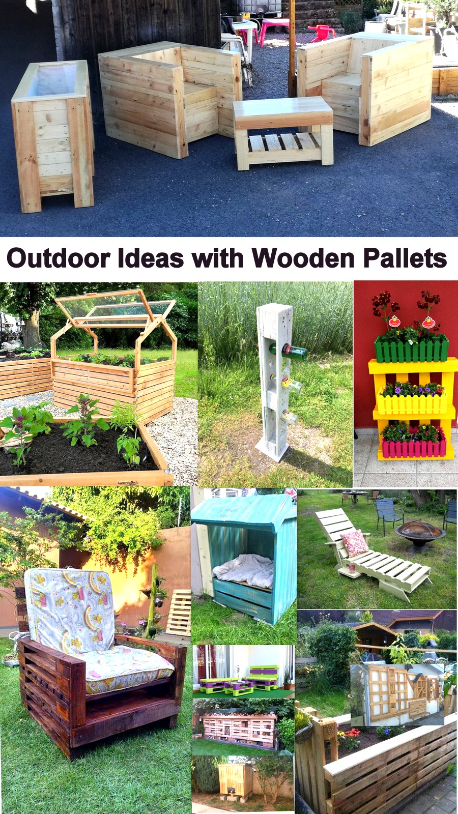 Outdoor ideas with wooden pallets pallet ideas recycled for Outdoor ideas for wood pallets