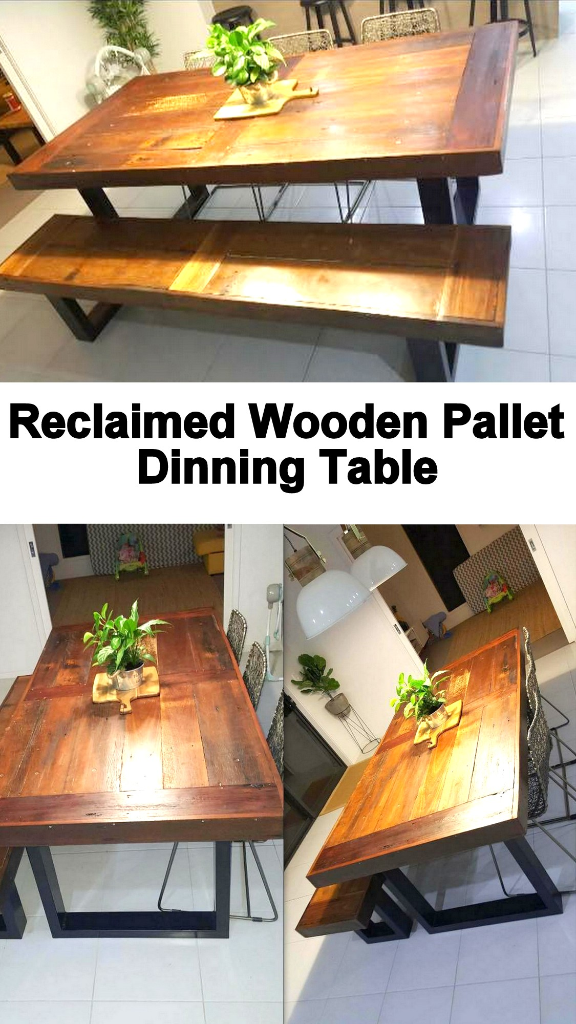 Reclaimed Wooden Pallet Dinning Table