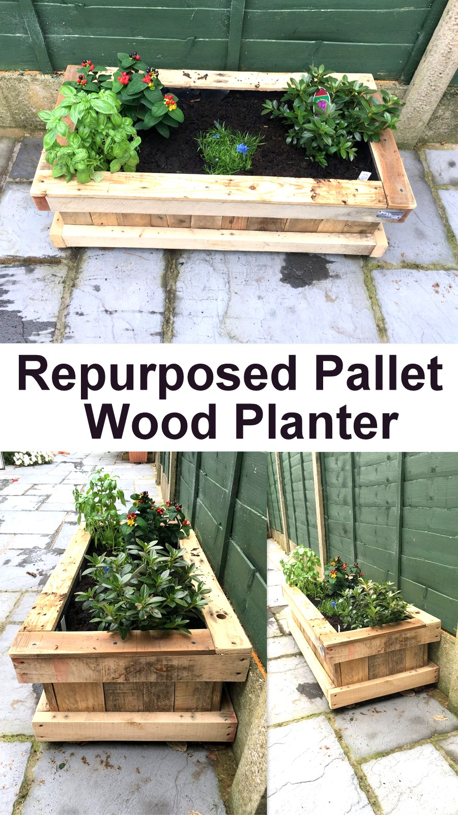 Repurposed Pallet Wood Planter