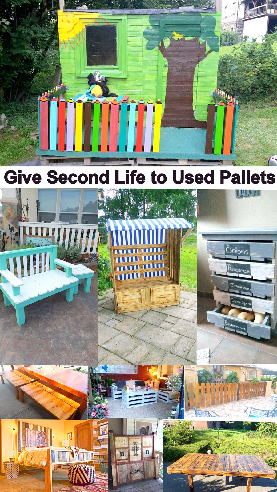 Wooden Pallet Recycling Ideas