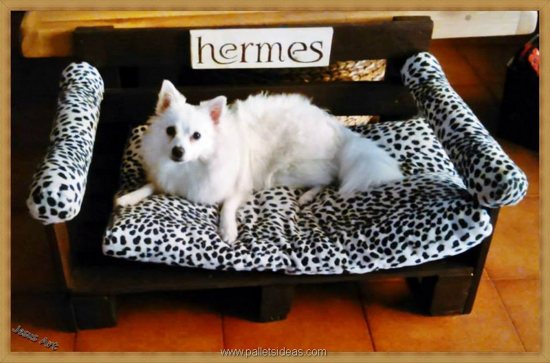 dog bed with pallets