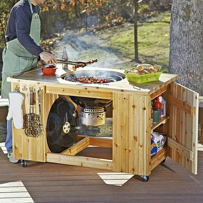pallet bbq patio table