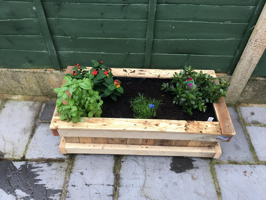 Repurposed Pallet Wood Planter Pallet Ideas Recycled