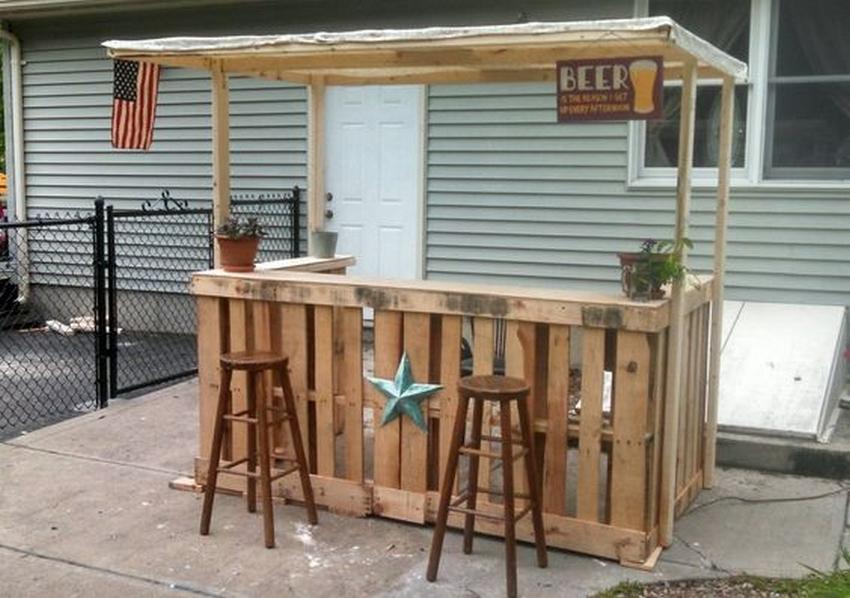 pallet patio bar