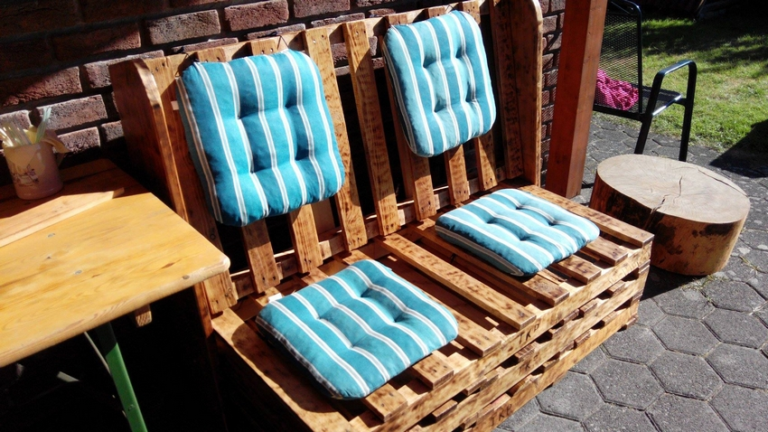 pallet patio bench couch
