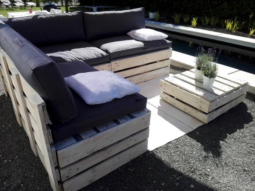 wooden pallet garden furniture. Pallet Patio Couch Wooden Garden Furniture