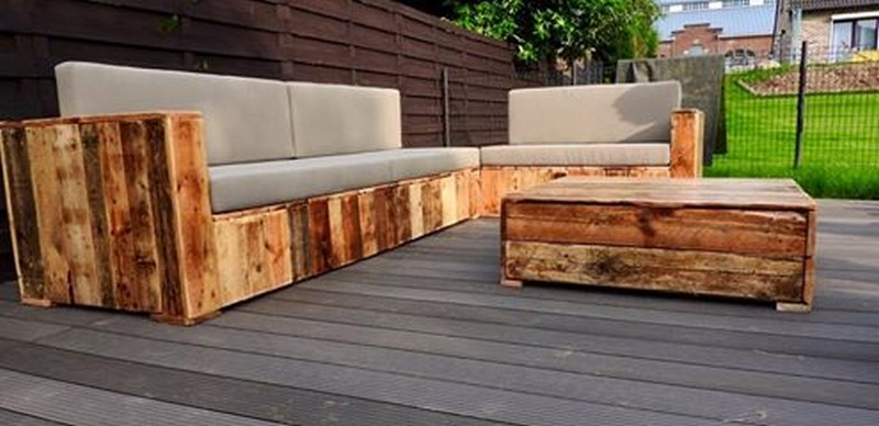 Pallet Patio Couch beautiful pallet wood patio furniture | pallet ideas: recycled