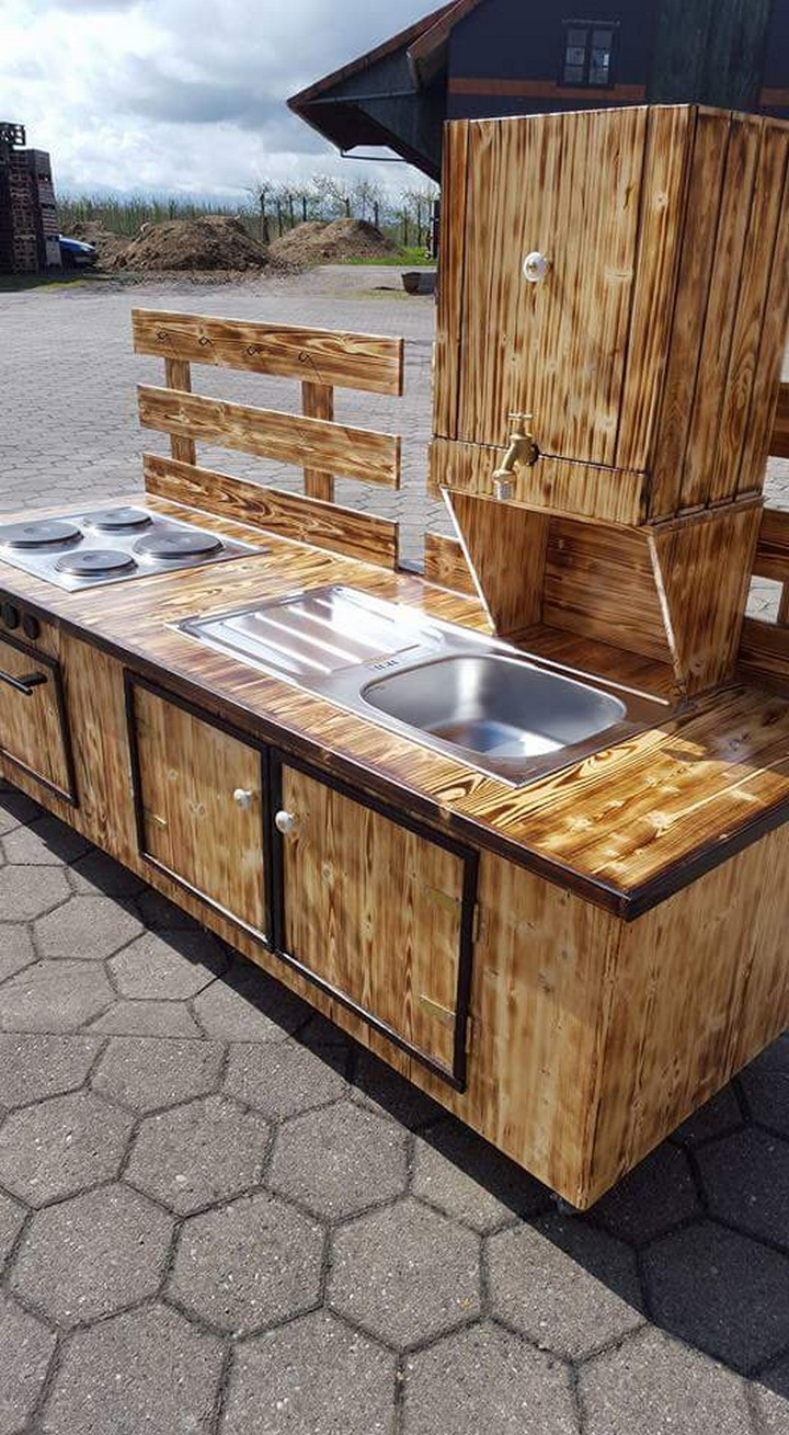 pallet patio kitchen