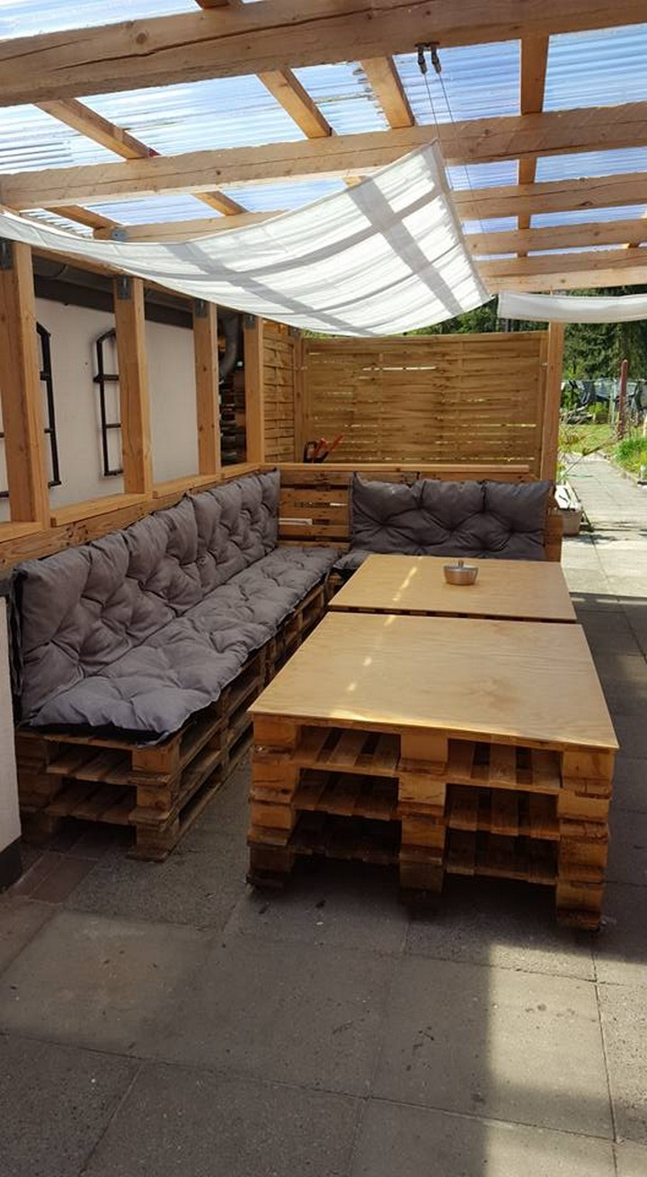 pallet pergola furniture