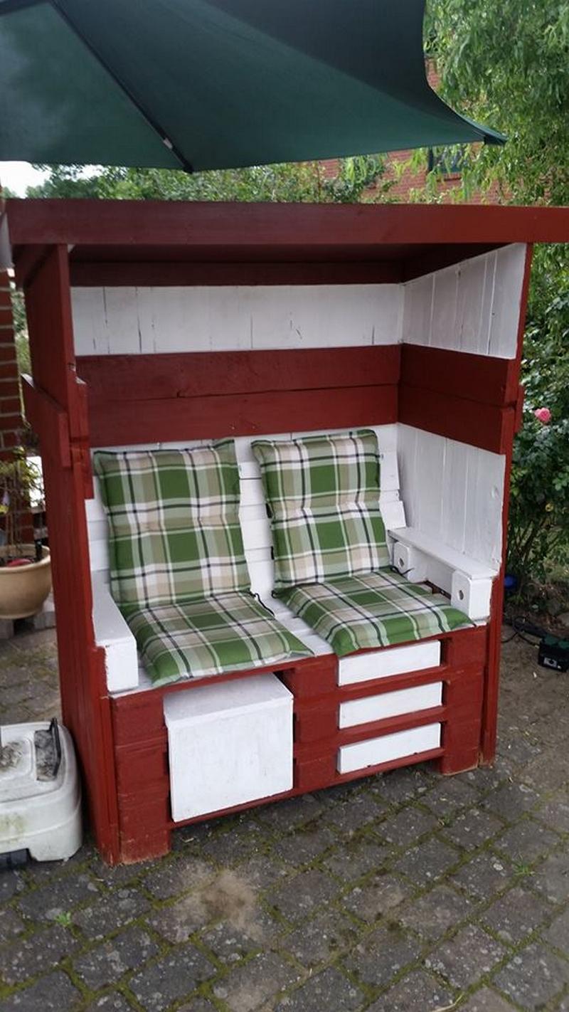 pallet strandkorb chair