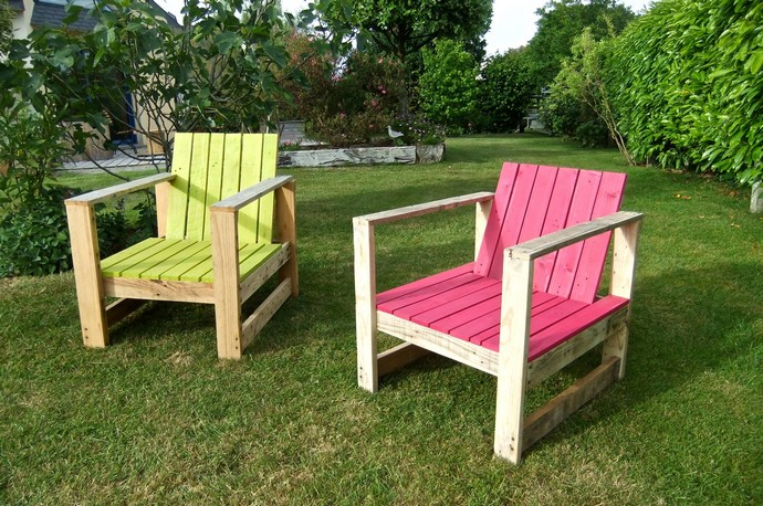 pallet wood garden chairs