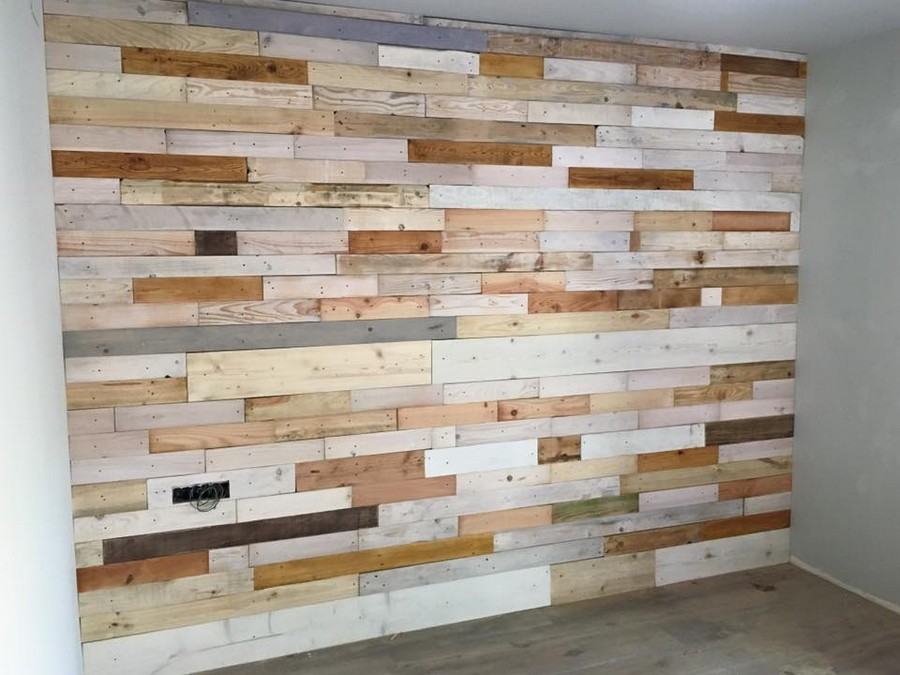 pallet wooden wall