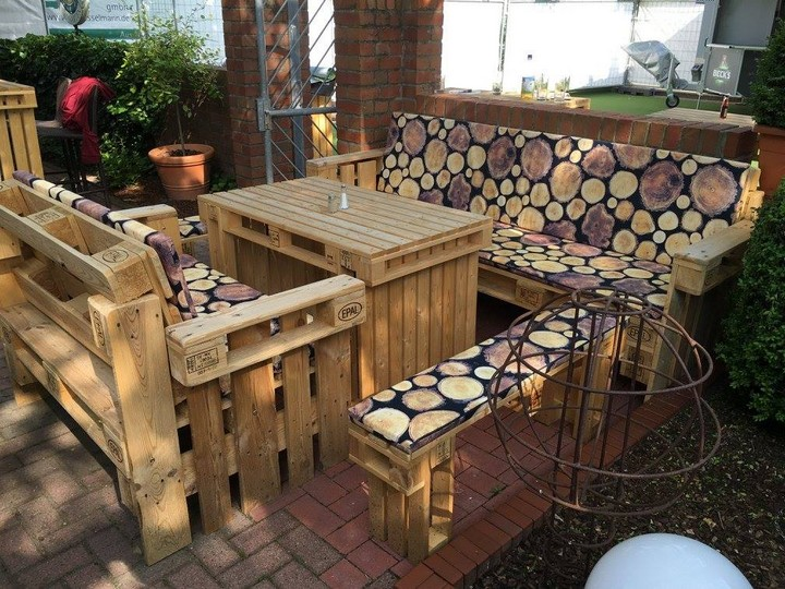 patio lounge pallet furniture