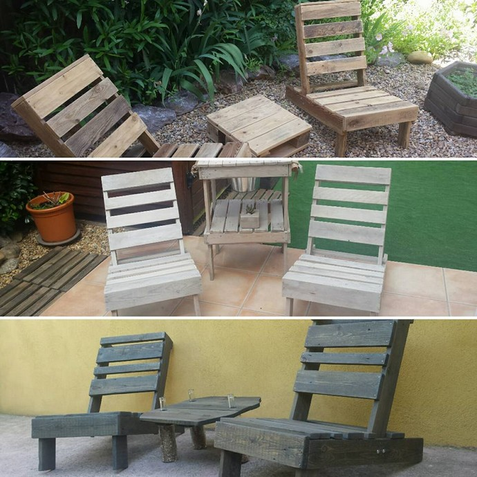 patio pallet wood chairs