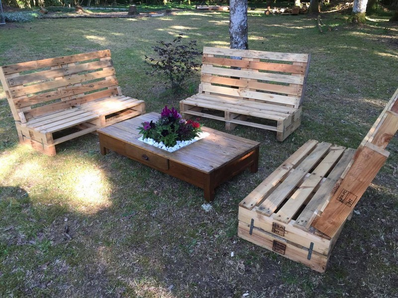 Outdoor Wooden Pallet Furniture Pallet Ideas Recycled
