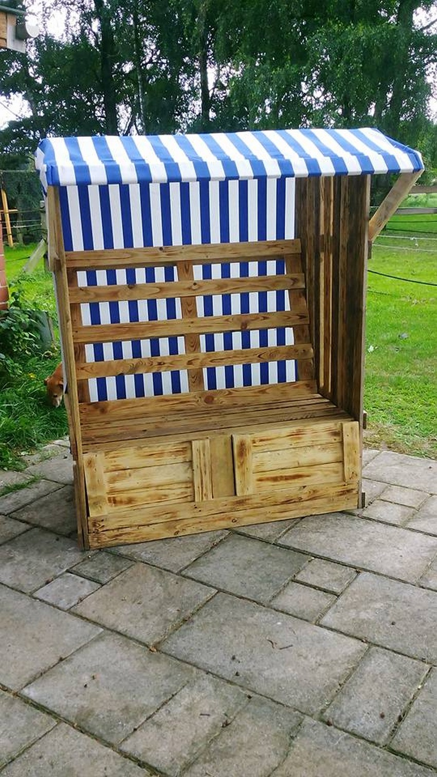 recycled pallet strandkorb chair