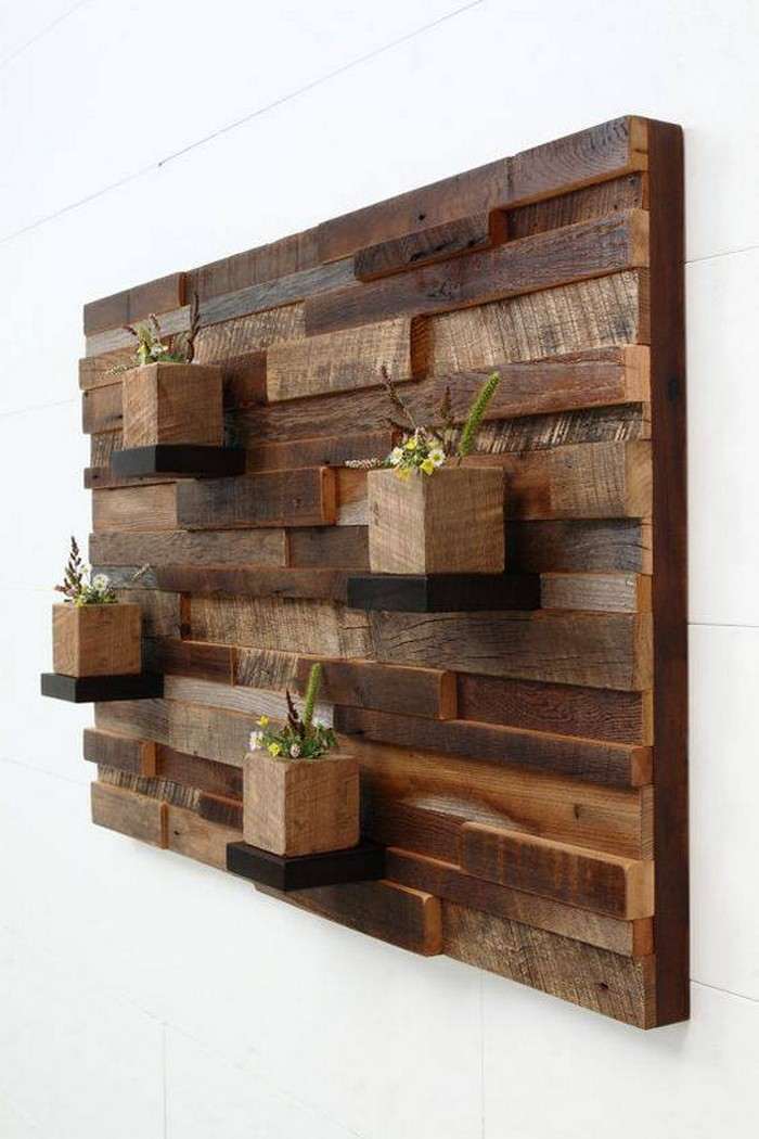Recycled wood pallet planter ideas pallet ideas for Wall accessories