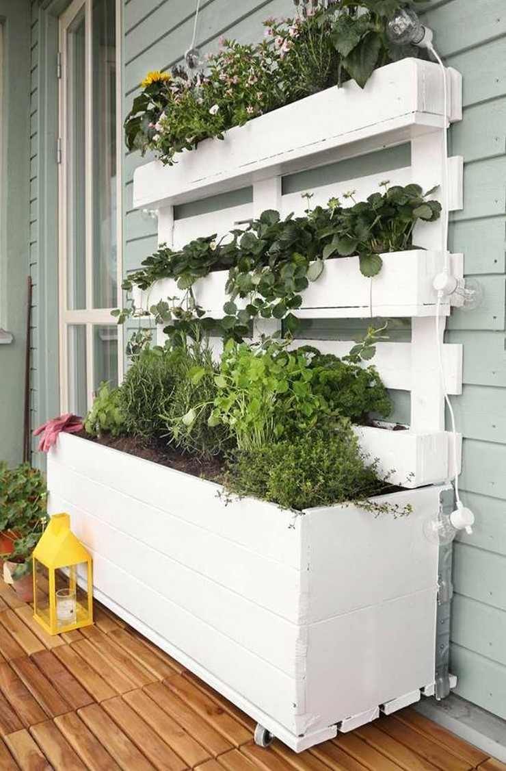 wall pallet wall attached planter