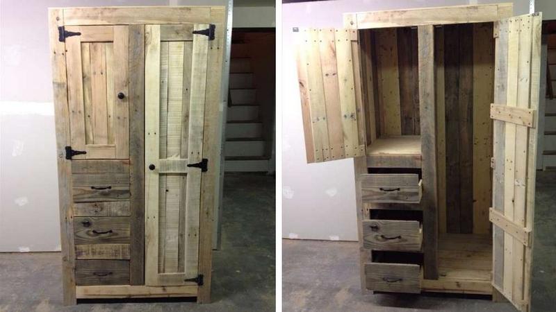 wood pallet wardrobe