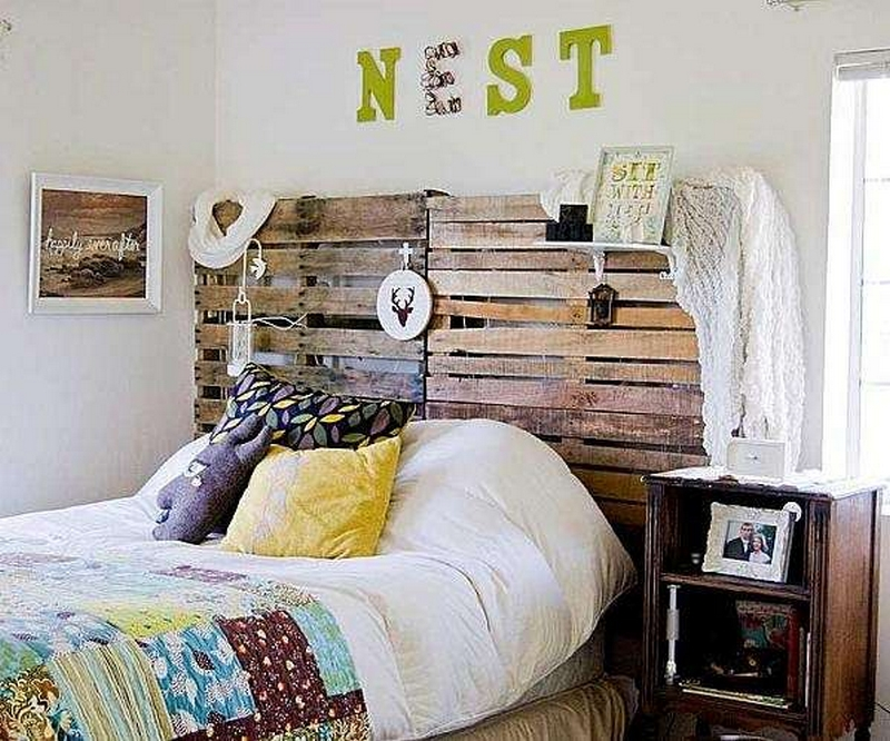 wooden pallet bed headboard