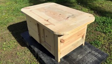 Wood Pallet Solid And Heavy Coffee Table With Drawers