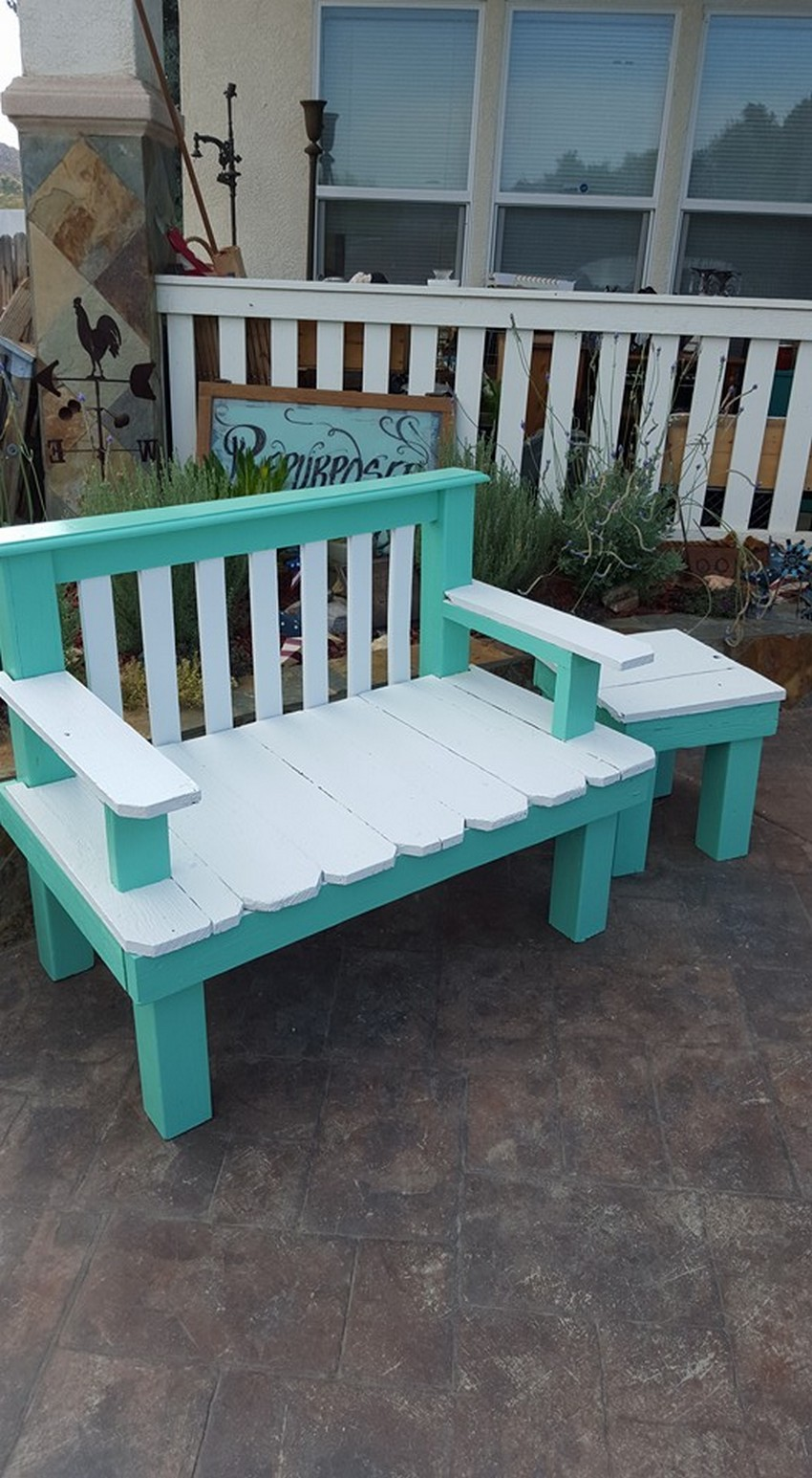 wooden pallet patio furniture idea
