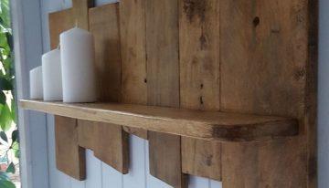 Upcycled Pallet Wood Shelf