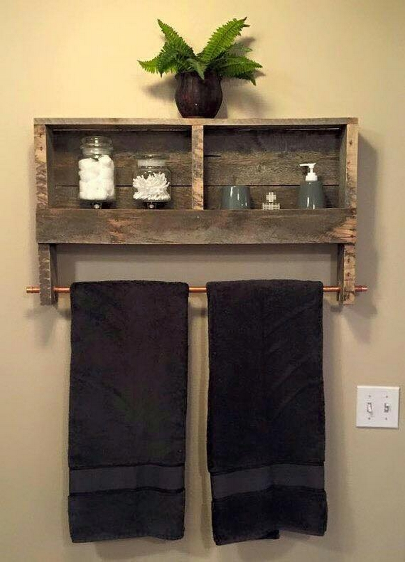 wooden pallet shelves
