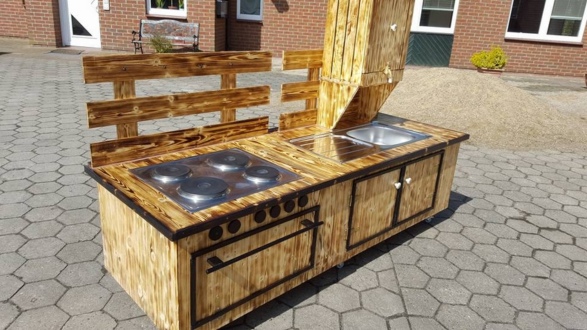 wooden pallet sink plan