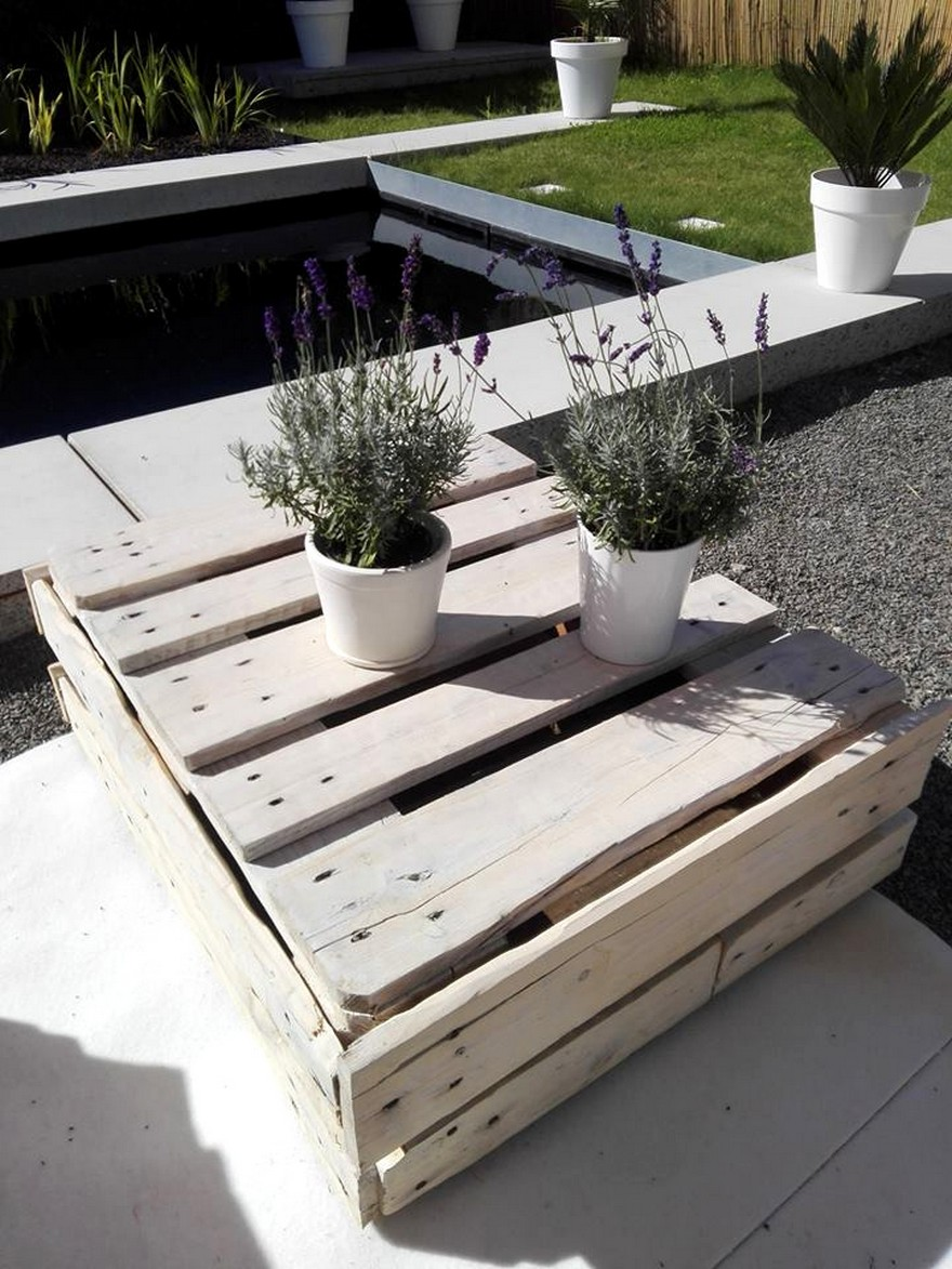 Wood Pallet Outdoor Garden Furniture on Diy Pallet Dog Bed Ideas