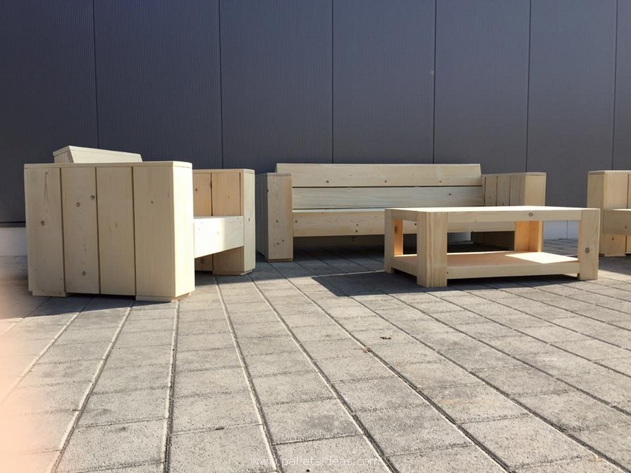 wooden pallets patio couch