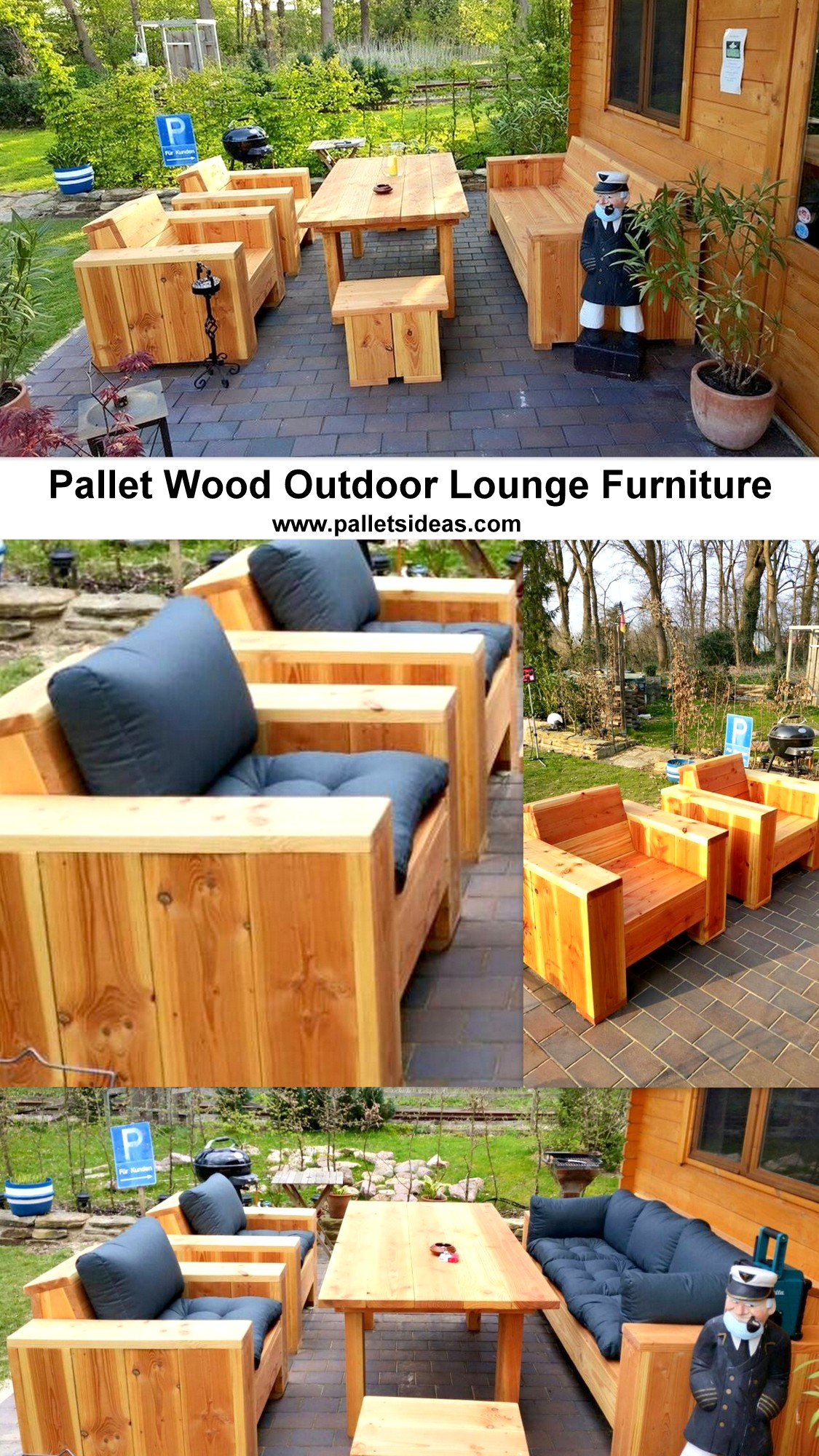 Pallet Wood Outdoor Lounge Furniture Pallet Ideas Recycled Upcycled Pallets Furniture Projects