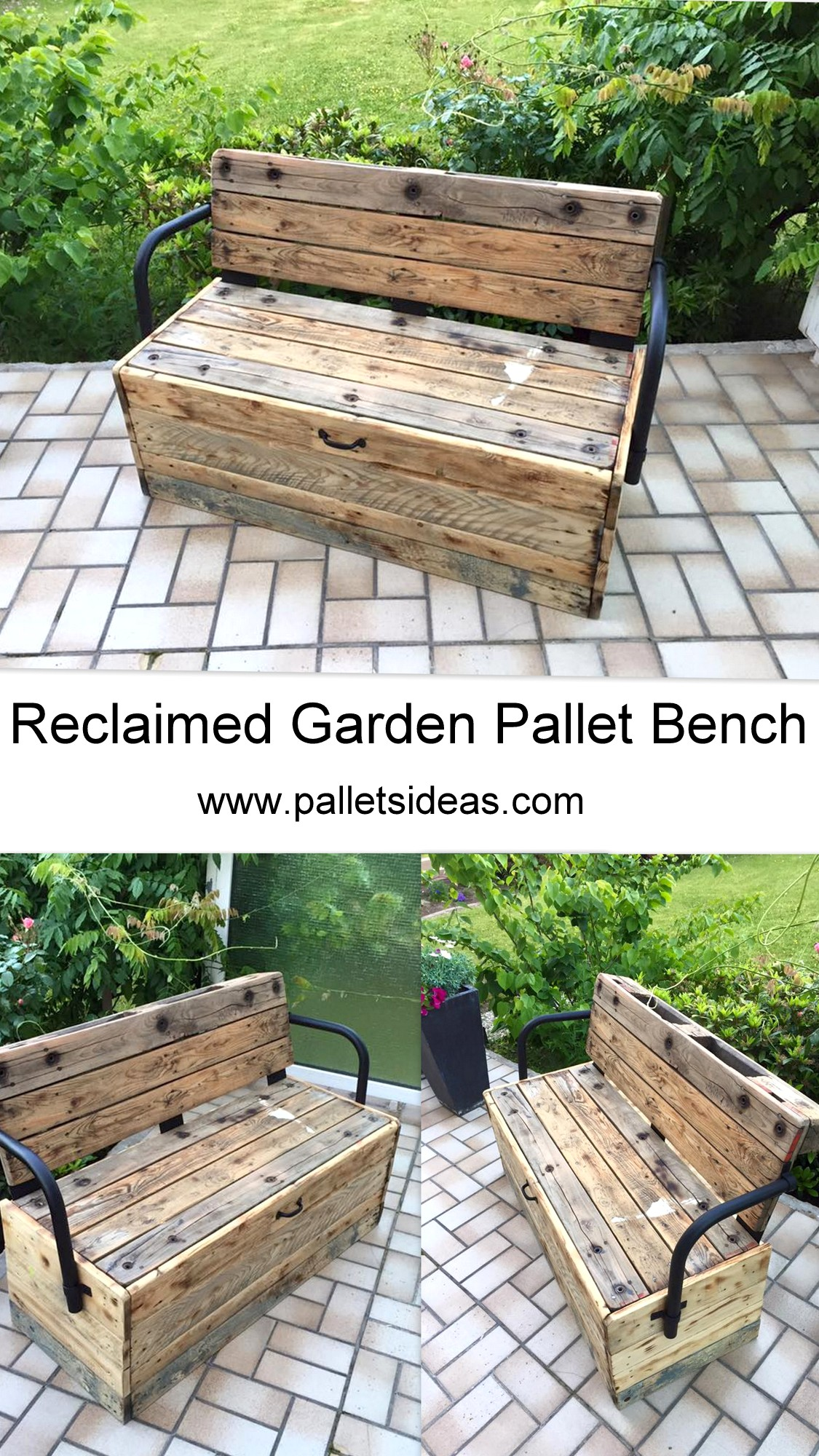 Reclaimed Garden Pallet Bench