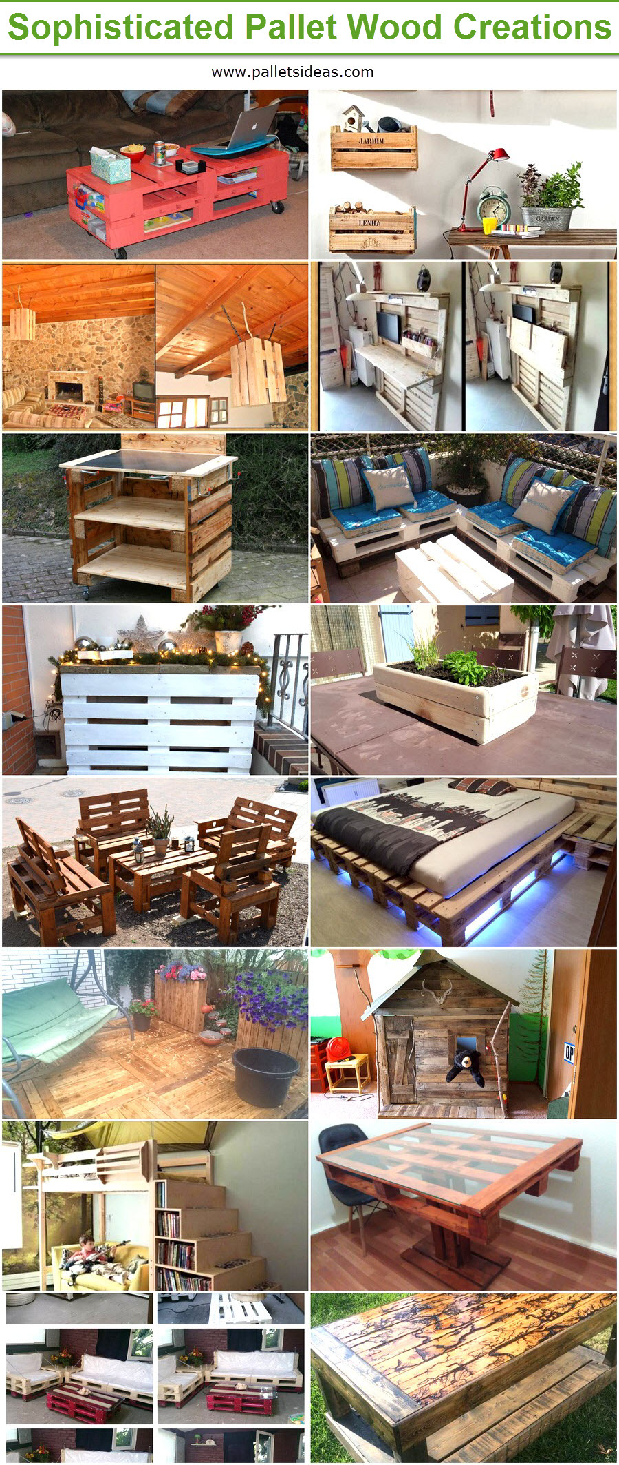 Sophisticated Pallet Wood Creations