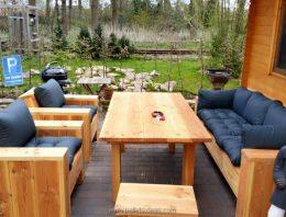 Pallet Wood Outdoor Lounge Furniture