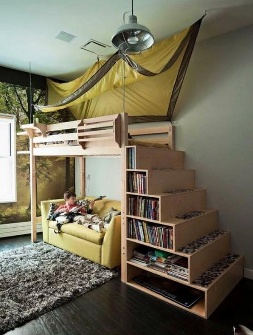 pallet bunk bed with storage