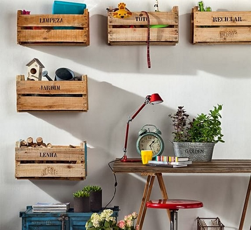 pallet fruit crates wall art