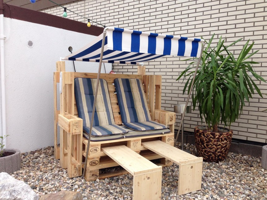 40 pallet ideas for your next diy project pallet ideas for Fabrication de fauteuil de jardin en palette