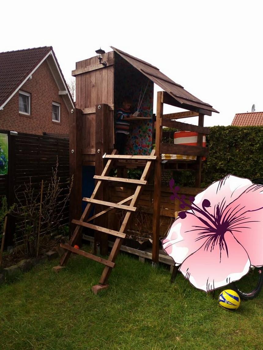 pallet kids garden hut