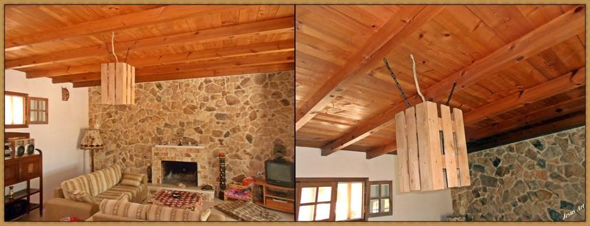 pallet roof art