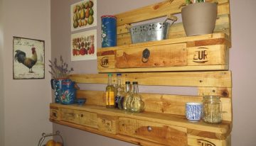Wood Pallets Kitchen Spice Racks