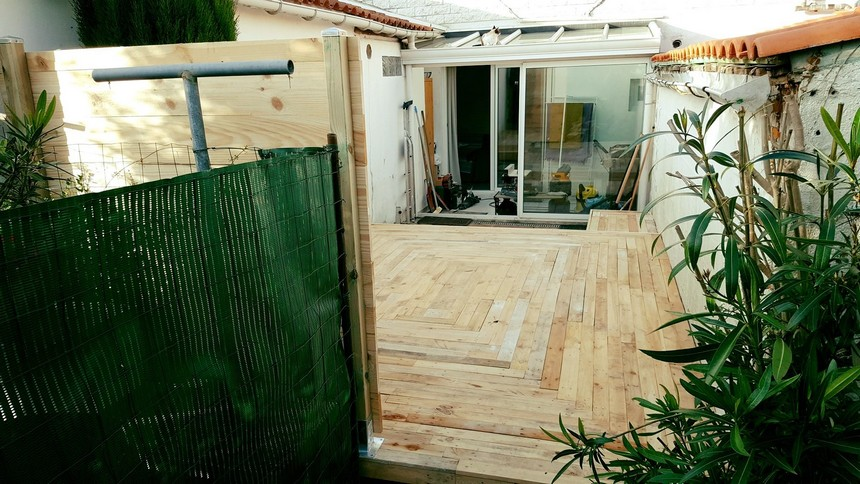 wooden pallet patio floor plan