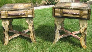 Pallet Wood Artistic Side Tables