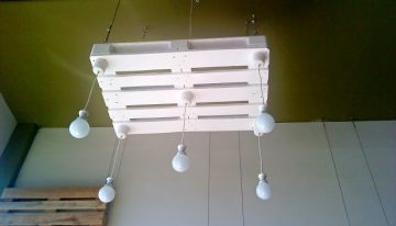 Bulbs Lights Hanging With Pallets