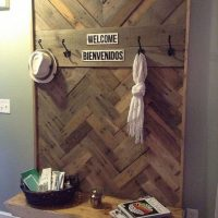 Pallets Hallway Tree DIY