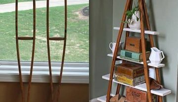 Turn Wood Crutches into a Bookshelf