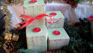 Recycled Pallets Candle Sets