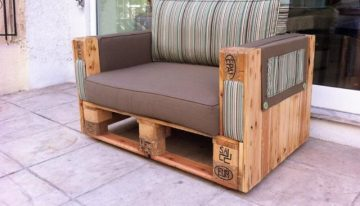 Couches Made with Wooden Pallets